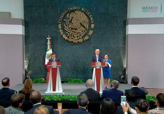 """Se reúnen EPN y Trump: """"no discutimos quién va a pagar el muro"""""""