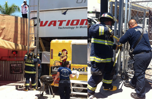 Rescata Bomberos a trabajador electrocutado
