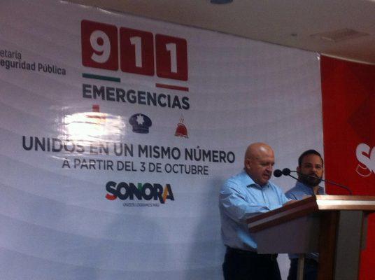 Abrirán línea de emergencia 911 para Sonora en octubre