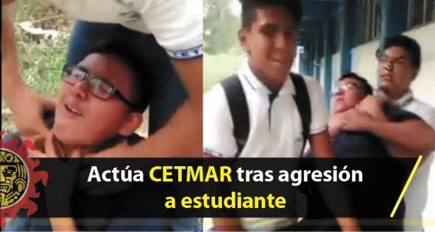 Actúa CETMAR contra alumnos que agredieron a un compañero