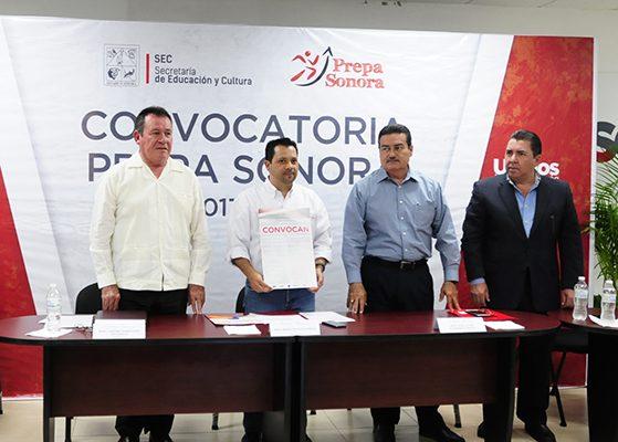 Presentan convocatoria Prepa Sonora 2017