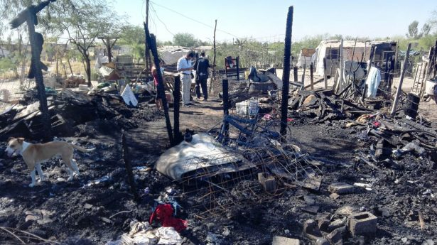 Se quedan sin nada siete familias por incendio