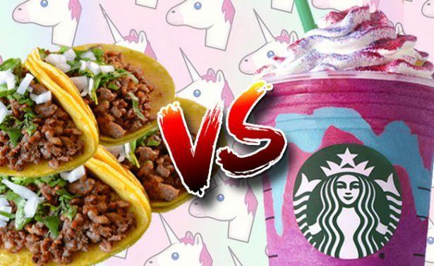 Tacos de bistec, elotes, donas… ¿a qué equivale el nuevo frapuccino Unicornio?
