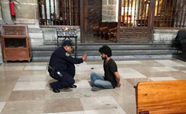 Identifican a quien apuñaló a padre en Catedral: es un ingeniero potosino