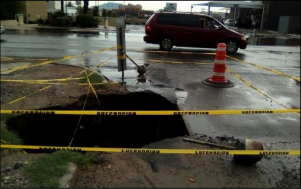 Toma tus precauciones: socavones y reparaciones en la ciudad