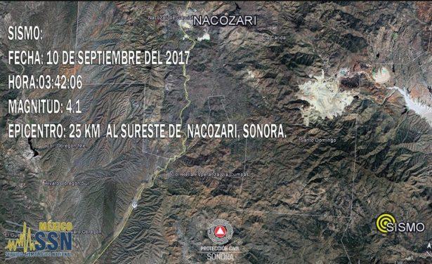Reportan sismo en Nacozari