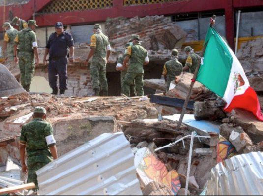 Militares sonorenses realizan labores de rescate en Oaxaca