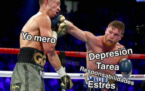 Memes se mofan del sorprendente empate entre Canelo y Golovkin