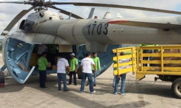 Aterriza de emergencia helicóptero con ayuda para Chiapas; hay 8 lesionados