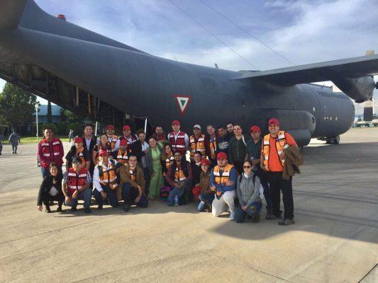 Inicia labores unidad médica de Sonora en Morelos por sismo