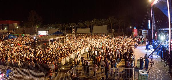 Desfile de estrellas en Mega concierto