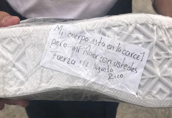 Desde la cárcel dona un par de tenis para damnificados por sismo