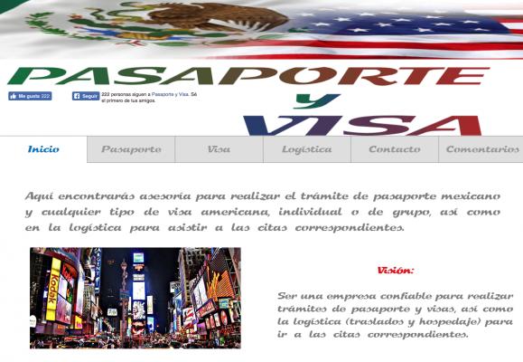 Continúa sitio web falso para trámite del pasaporte mexicano