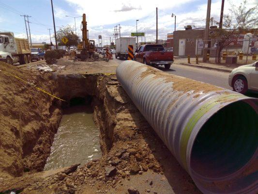 Rehabilita Aguah dos tramos en colectorde drenaje