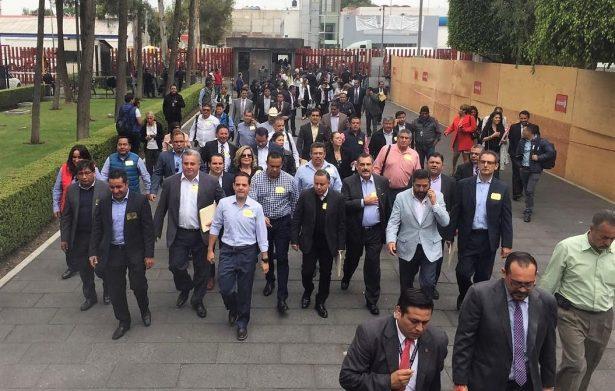 Lidera Maloro Acosta exigencia de alcaldes en San Lázaro