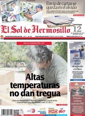 Edición impresa domingo 12 de noviembre de 2017