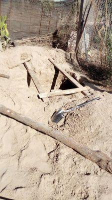 Localizan fosa clandestina en el poblado Miguel Alemán