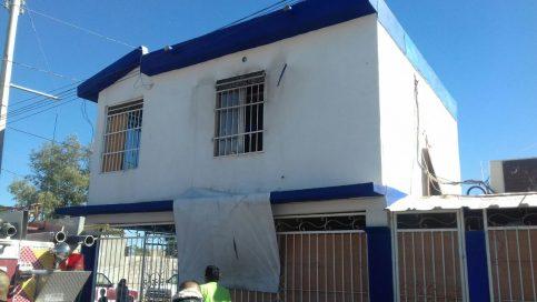 incendio en casa de reahabilitación en colonia Solidaridad (1)