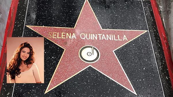 Selena es inmortalizada en Hollywood