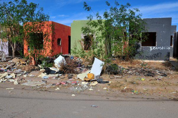 Abundan casas invadidas en la colonia La Cholla