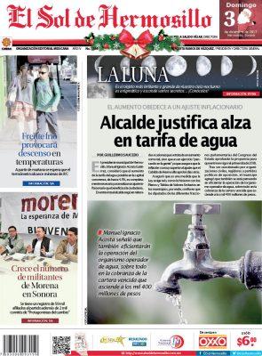 Edición impresa domingo 3 de diciembre de 2017