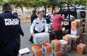 Elementos de la Jefatura de Policía Preventiva y Tránsito de Hermosillo donan 80 despensas para comunidades de alta marginación (8)