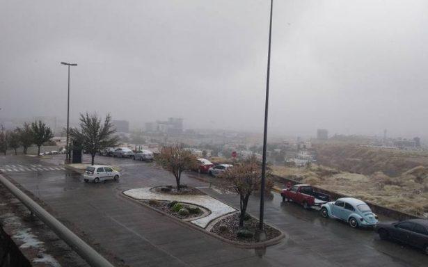 Cae aguanieve en 11 municipios de Chihuahua