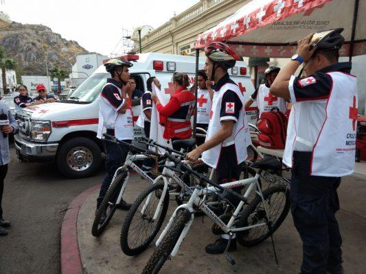 Instala Cruz Roja módulo en el Centro de Hermosillo