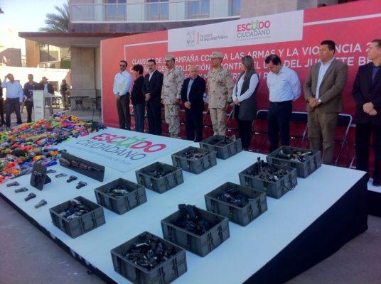 Clausuran campaña contra las armas y el uso de juguetes bélicos 2017