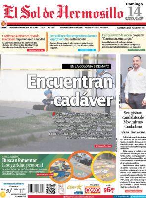 Edición impresa domingo 14 de enero de 2018