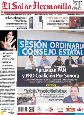 Edición impresa domingo 21 de enero de 2018