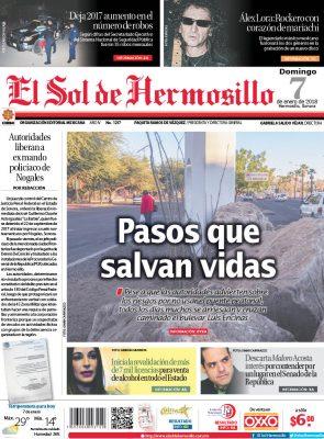 Edición impresa domingo 7 de enero de 2018