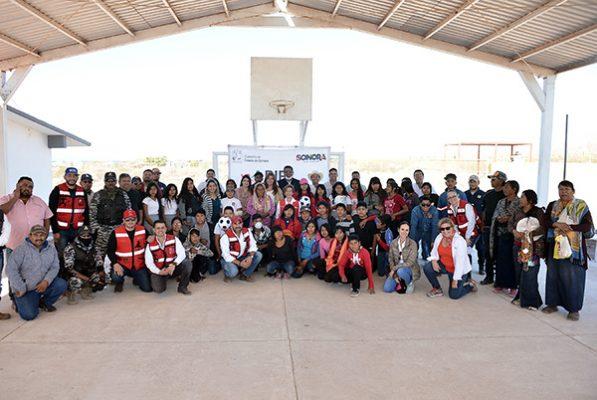 Limpian comunidad de Punta Chueca