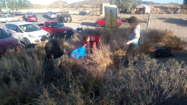 Levantan una tonelada de basura en el Cerro del Bachoco