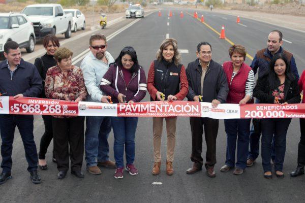 Entregan obra de pavimentación en la calle Olivares