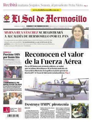 Edición impresa domingo 11 de febrero de 2018