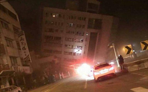 Sismo de magnitud 6.4 provoca derrumbe de hotel en Taiwan