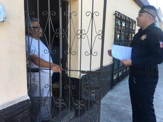 Promueve Policía municipal botón de alerta en el Centro de la ciudad