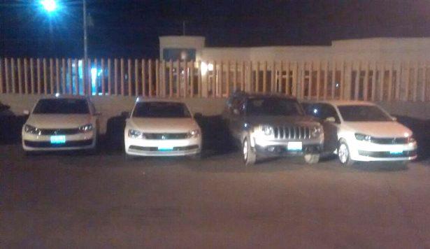 Recupera Policía cuatro autos robados de un lote
