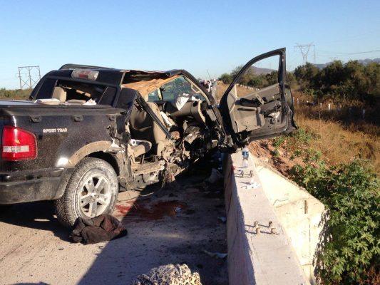 Accidente en carretera deja 3 lesionados, entre ellos un bebé