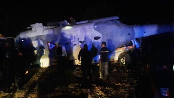 Se accidenta helicóptero donde viajaba Navarrete Prida a Pinotepa