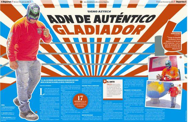 Signo Azteca, con ADN de un auténtico gladiador