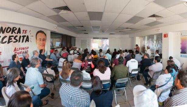Ponen hermosillenses ojos en el debate presidencial