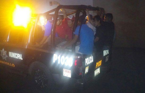 Detiene Policía Municipal a 11 personas en operativo especial