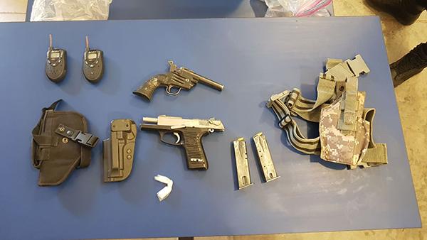 Asegura PESP a ocho sujetos armados
