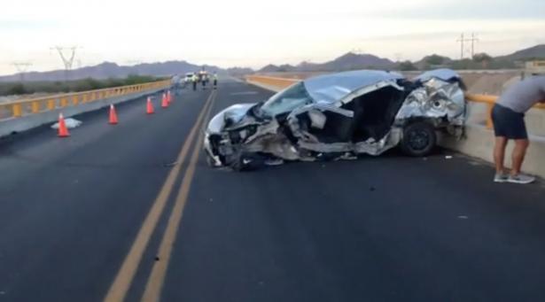 Muere joven de 25 años en accidente carretero tramo Guaymas-Hermosillo