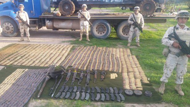 Ejército Mexicano repele agresiones y asegura armamento en Arivechi, Sonora
