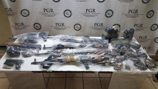 Investigan procedencia de 7 armas de fuego y 818 cartuchos útiles