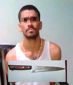 Amenaza con cuchillo a su ex pareja sentimental