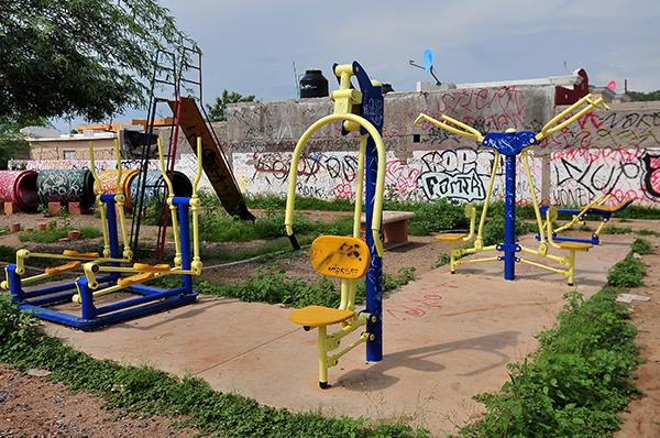 Autoridades tienen parque en el olvido
